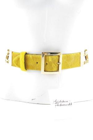 Iceberg Leather Belt dark yellow extravagant style
