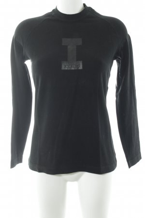 Iceberg Longshirt schwarz Schriftzug gedruckt schlichter Stil