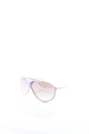 Iceberg ovale Sonnenbrille nude-silberfarben Street-Fashion-Look