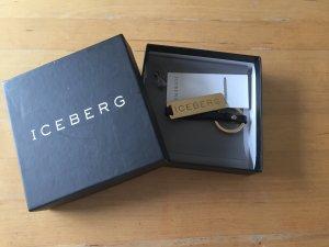 ICEBERG Schlüsselanhänger, Schlüsselring, gold, NEU! OVP!