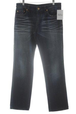 Iceberg Straight-Leg Jeans dunkelblau-wollweiß Casual-Look