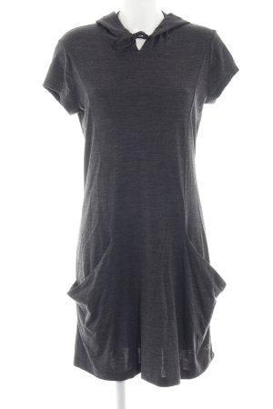 Icebreaker Hooded Dress dark grey athletic style