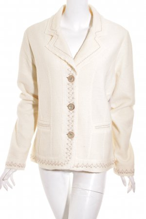 Icelandic Design Woll-Blazer creme Country-Look