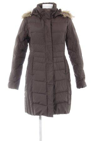 Icepeak Down Coat brown-grey brown quilting pattern casual look