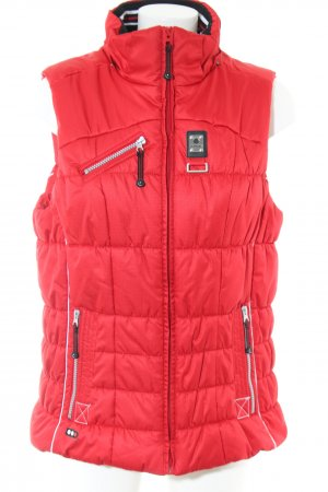 Icepeak Down Vest red quilting pattern casual look