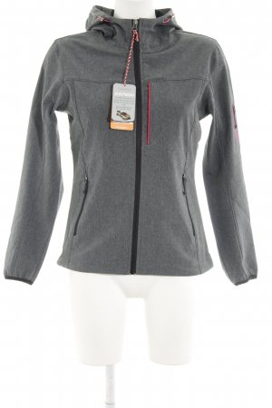 Icepeak Chaqueta para exteriores gris-gris oscuro moteado estilo sencillo