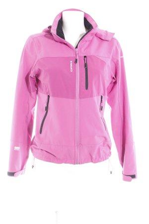 Icepeak Outdoorjacke pink-schwarz sportlicher Stil