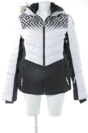 Icepeak Outdoor jack zwart-wit quilten patroon klassieke stijl
