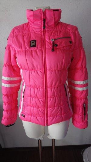 Icepeak Skijacke Schneeanorak pink mit Kunstfell