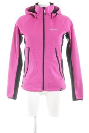 Icepeak Softshelljacke pink-schwarz sportlicher Stil