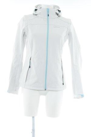 Icepeak Softshelljacke weiß-babyblau sportlicher Stil