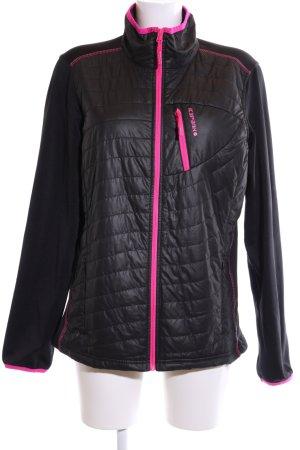 Icepeak Sportjacke schwarz-pink Steppmuster Casual-Look