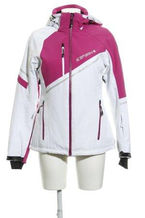 Icepeak Sportjacke weiß-pink Colourblocking sportlicher Stil