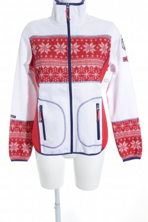 Icepeak Sportjacke weiß-rot sportlicher Stil