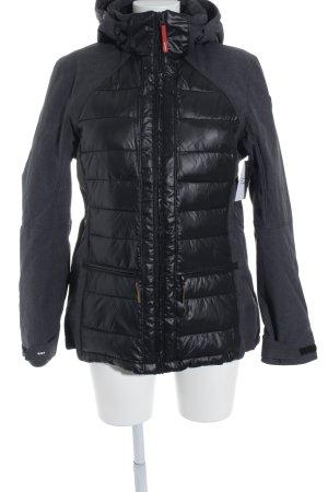 Icepeak Steppjacke schwarz-dunkelgrau Steppmuster Street-Fashion-Look