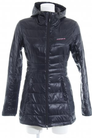 Icepeak Manteau matelassé noir motif de courtepointe style décontracté