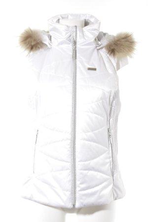Icepeak Steppweste weiß-hellbraun Casual-Look