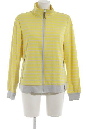 Icepeak Sweatjacke gelb-hellgrau Streifenmuster sportlicher Stil