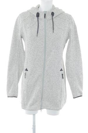 Icepeak Overgangsjack grijs gestippeld Logo applicatie
