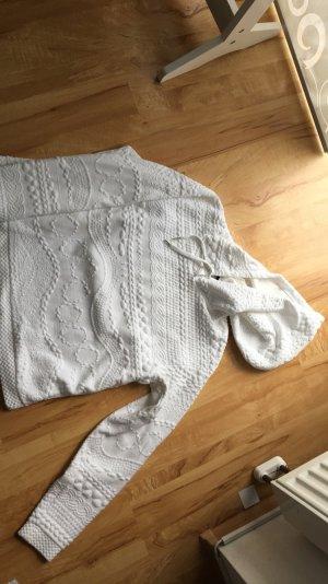 Ich verkaufe einen weißen Pullover von H&M in L