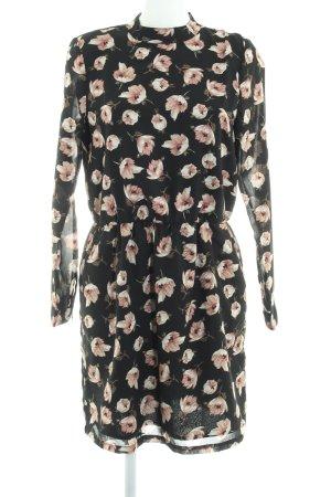 Ichi A-Linien Kleid Blumenmuster Romantik-Look