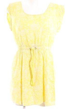 Ichi A-Linien Kleid gelb-weiß Beach-Look