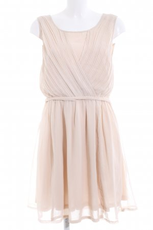 Ichi Chiffonkleid creme Casual-Look