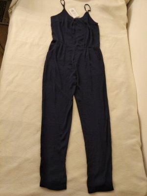 ICHI Damen Jumpsuit Gr. 38 dunkelblau mit Etikett
