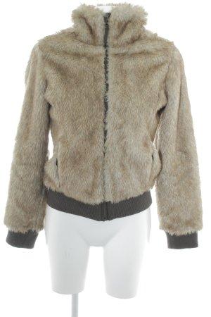 Ichi Fur Jacket camel-cream casual look