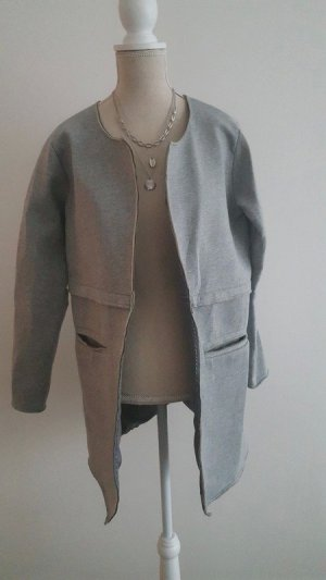Ichi Heavy Pea Coat light grey