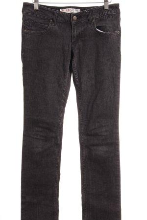 Ichi Lage taille broek donkergrijs gestippeld casual uitstraling
