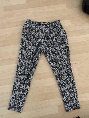 Ichi Pantalone bloomers nero-bianco