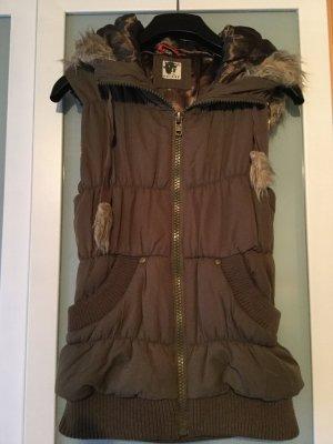 Ichi Hooded Vest khaki