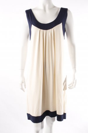 Ichi Kleid creme-blau