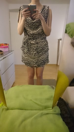 ICHI kleid Safari mit leoprint