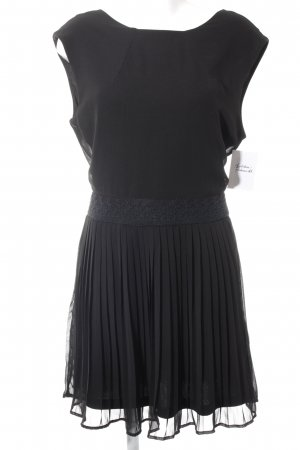 Ichi Kurzarmkleid schwarz Elegant