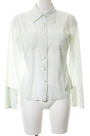 Ichi Langarm-Bluse türkis-grün abstraktes Muster Business-Look