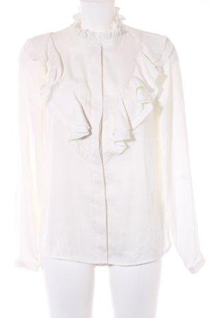 Ichi Langarm-Bluse wollweiß Elegant