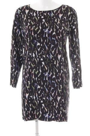 Ichi Langarmkleid abstraktes Muster Casual-Look