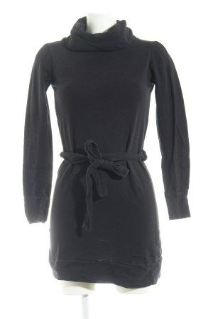 Ichi Langarmkleid schwarz Casual-Look
