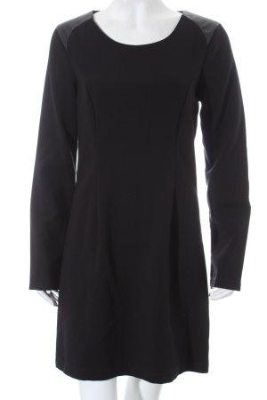 Ichi Langarmkleid schwarz schlichter Stil