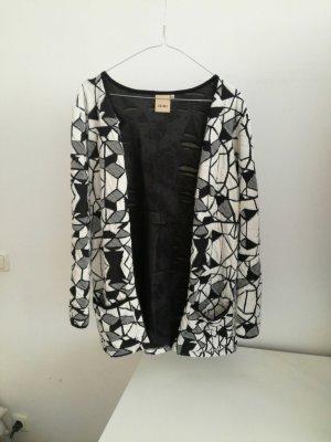 Ichi |  leichter Mantel | Gr. XS/S | schwarz/weiß gemustert