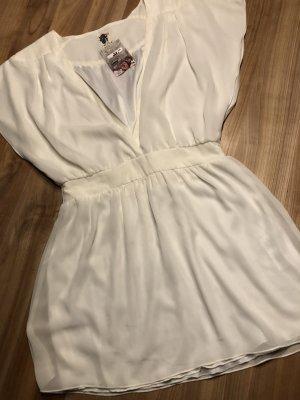 ICHI Long-Bluse weiß-creme