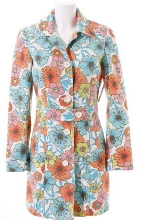 Ichi Mantel Blumenmuster Street-Fashion-Look