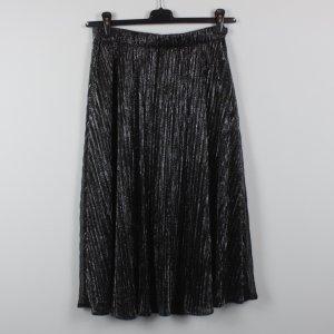 Ichi Jupe mi-longue noir-argenté polyester