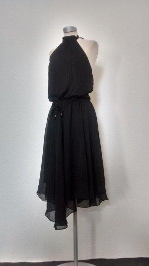 Ichi Neckholder Kleid schwarz Chiffon Gr. M 38 neu