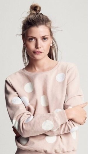 ICHI Nude Sweater Pullover Sweatshirt Blogger Copenhagen Style Pailletten S M L