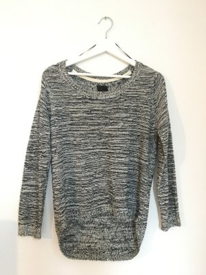 ICHI Pullover Schwarz Weiß Meliert