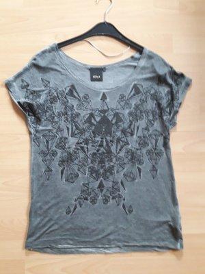 Ichi : Shirt grau-schwarze sehr weich Größe 36,eher 38 fast NEU