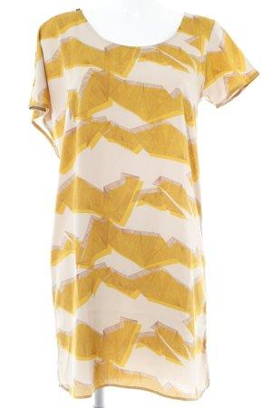 Ichi Shirtkleid abstrakter Druck Business-Look